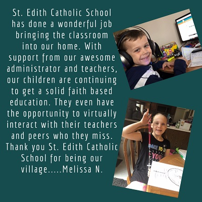 St. Edith Online Learning Testimony